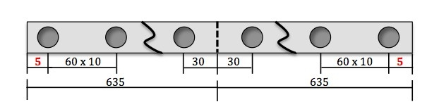 hole spacing example